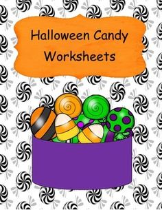 Halloween Candy Worksheets is a set of worksheets to help students with early math skills, sequencing, cut and paste, color by number, and search and find.Product includes cover page, candy cut and paste sequence worksheet, color by number worksheet, count the candy pieces worksheet, add the candy corn dot addition with sums of 1-10 worksheet, candy corn numbers addition with sums of 1-10 worksheet, and a credits page.***************************************************************************...