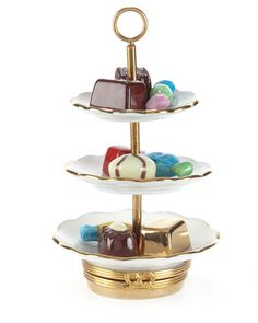 Rochard Sweet Tray Limoges Box with Removable Candies