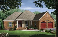 EXTERIOR (to change) - 1750 sf as is. House Plans, Home Plans and floor plans from Ultimate Plans
