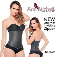 03fd3049272 Ann Michell New Latex Waist Cincher Trainer With Invisible Zipper Closure  Internal Hook Eye Style 2037 Ideal for exercising walks
