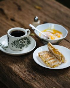 Kaya toast with half-cooked eggs and Hainanese coffee | Asian recipes | SBS Food