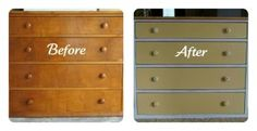 French Country Yellow Dresser