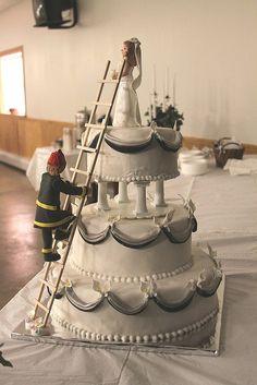 Fireman Wedding Cake Main by tanyacakes, via Flickr