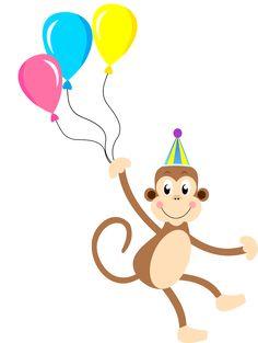 Macaco circo Montando a minha festa