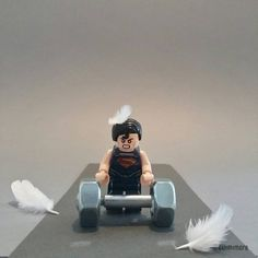 """DC OLYMPIC n°08 """"Weightlifting"""" """"Halterophilie""""  #rio2016 #JO2016 #olympic #Weightlifting #DCCOMICS #Superman #LEGO #minifigures #minifig #legography #toy #afol"""