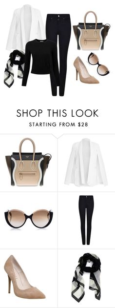 """""""Office #1"""" by emelie-mely on Polyvore featuring CÉLINE, Cutler and Gross, Armani Jeans, Office, Givenchy and Pure Collection"""