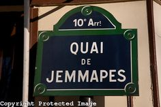 Street Sign in Paris, France from www.kevingeorge.photoshelter.com