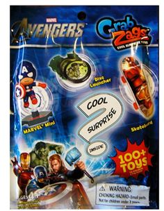 Partytoyz Inc. - Avengers Grab Zags Cool Surprise Toys - Series 1, $1.00 (http://www.partytoyz.com/avengers-grab-zags-cool-surprise-toys-series-1/)