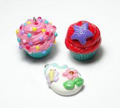 Custom Order: Cupcakes & Easter Egg Pendants