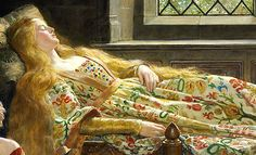 The Sleeping Beatuy (details) by John Collier (1850-1934)