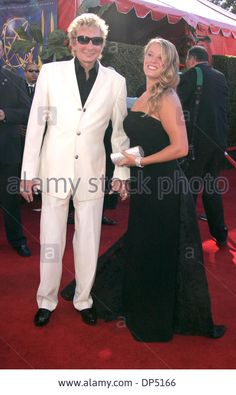 Barry manilow and his goddaughter Kirsten at the Emmy Awards.