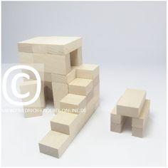 Lebensform (nach Marenholtz-Bülow) mit den Holzbausteinen der Spielgabe 6 nach Froebel -> Stall für Tiere