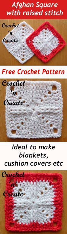 Afghan Square | free crochet pattern | easy and quick to make | #crochet