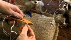 How To Needle Felt Animals: Raccoon 1 by Sarafina Fiber Art #feltanimalsdiy