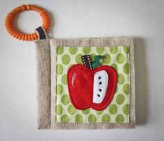 Quiet book  Fruits and vegetables sensory fabric book for baby by CUTIFULbaby, $35.00