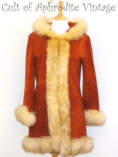Vintage 70s Suede Leather Sheepskin Lamb Fur by CultofAphrodite, $285.99