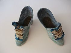 OLD Cloth Shoes FOR French Boudoir OR Antique Fashion Doll | eBay