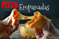 Pizza empanadas might be the easiest type of empanadas to make! Only 4 ingredients needed to make these ooey gooey Puerto Rican treats. Get the recipe!