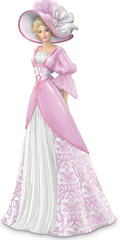 *A TOUCH of NOSTALGIA ~ Damask Damsels For Hope: Breast Cancer Charity Figurine Collection
