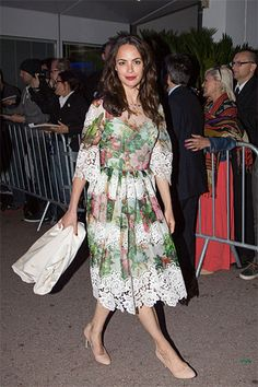 In Bloom: The Best Floral Frocks - Berenice Bejo in Dolce & Gabbana