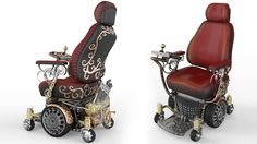 Steampunk wheelchair for a 14-year-old boy with muscular dystrophy