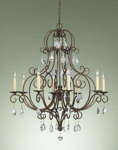 Murray Feiss Chateau 8 Light Mocha Bronze Chandelier   F2303/8MBZ