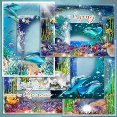 Frames for Photoshop - Underwater world