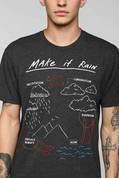 Make It Rain Tee Urban Outfitters This tshirt is the kinda style I design. Che - Funny Nerd Shirts - Ideas of Funny Nerd Shirts - Make It Rain Tee Urban Outfitters This tshirt is the kinda style I design. Check out my FB page. Teacher Wear, Teacher Style, Teacher Outfits, Teaching Shirts, Teaching Clothes, Science Shirts, Make It Rain, Look Cool, Just In Case