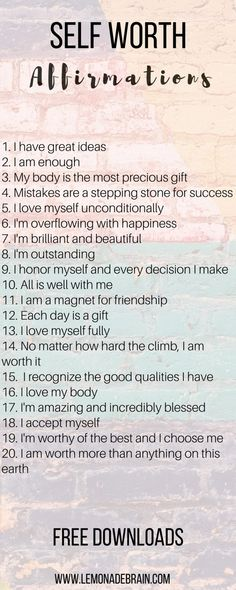 Healthy Body Affirmations: Affirmations that changed my life - Lemonade Brain