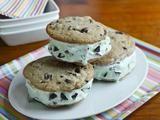 Giant Mint Chocolate Chip Ice Cream Sandwich Recipe