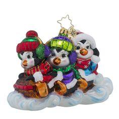 Christopher Radko Ornaments   Radko Silly Sliders Animals Christmas Ornament
