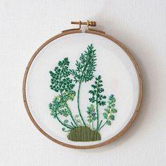 #fern #bracken #plant #embroidery #hoop #Hoopart