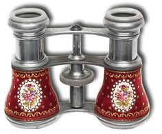 Opera Glasses - Rare French Aluminum and Enamel - Gilai Collectibles