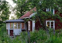 Welcome to Sweet Home Style: Photo Style Cottage, Swedish Cottage, Red Cottage, Cottage In The Woods, Swedish House, Cozy Cottage, Scandinavian Cottage, Farm Cottage, Red Houses