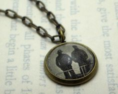 Literary Pendant: Looking Out to Sea on Etsy, $25.00