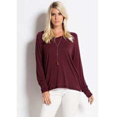 Maroon V-Neck Essential Top Maroon V-Neck essential top. It has long sleeves. It is really soft and comfortable! It would be great for layering or just by itself. I have different sizes posted in my closet as well! Measurements and model photos are upon request. The price is firm unless bundled. Forever Moon  Tops Tees - Long Sleeve