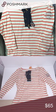 Tory Burch women's shirt (S) Jersey cotton Top with 3/4 sleeves. Gently used, ask any questions! Tory Burch Tops Tees - Long Sleeve