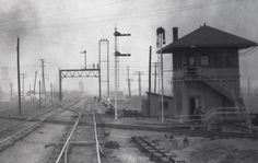 Tower 53 located at the south end of the Missouri-Kansas-Texas (MKT) Railroad's Ney Yard in south Fort Worth. c1940