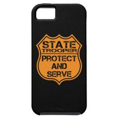 State Trooper Badge Protect and Serve iPhone 5/5S Cover