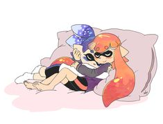 """axl-fox: """" After a hard day keeping Inkopolis safe from the Octarian Army, its time to take a well earned stress-relieving nap. """""""