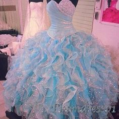 Amazing ice blue tulle long ball gown, prom dress 2016, strapless wedding gown -> www.promdress01.c... #coniefox #2016prom