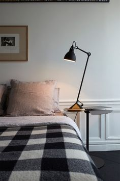 The Lampe Gras 206 Table Lamp - Black Satin by Lampe Gras has been designed by Bernard-Albin Gras. Lampe Gras 206 table lamp is in its form very flexible and has a practical light. This beautiful table lamp is made of steel and oak wood also comes. Sofas, Lampe Gras, Black Table Lamps, Night Table, Low Tables, Furniture Dolly, Desk Lamp, Lamp Table, Decoration