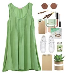 Green Summer by gicreazioni on Polyvore featuring moda, Calypso St. Barth, Gorjana, The Row, MAKE UP FOR EVER, Normann Copenhagen, Yankee Candle and Muji