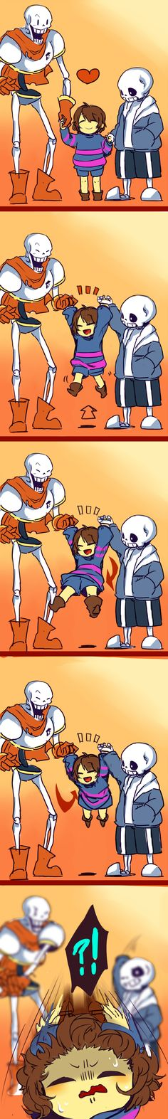 Papyrus, Frisk, and Sans - comic