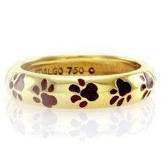 Hidalgo-Red-Enamel-Puppy-Paw-Print-Eternity-Band-18K-Yellow-Gold