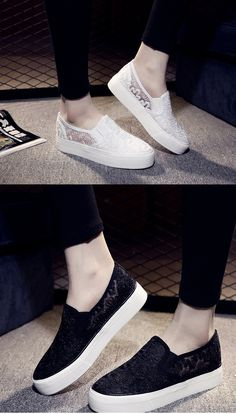 Basic black and white sneakers for matching with skinny jeans. Repin if you also like them <3