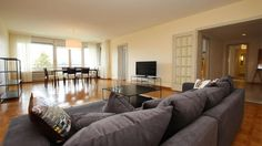 Furnished 4 room apartment - Quai du Seujet 14 - GENEVE - Furnished apartment - GENEVA -  - CHF 4500 Furnished 4 room apartment For fent   Large furnished apartment with an entrance hall,   - a guest toilet,   - a fully equipped kitchen ,   - a living room with an access to the balcony,   - a bedroom