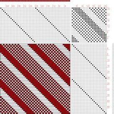 Figure 1683, A Handbook of Weaves by G. H. Oelsner, 24S, 24T - Handweaving.net Hand Weaving and Draft Archive