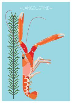 Langoustine and Spruce - Nordic Food Illustration - #Sivellink