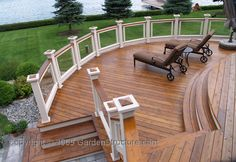 What do you think about the stained deck with white trim?